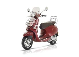 Xclusive Bike - Torhout Vespa Primavera 50 - 125cc  model Touring: inclusief voorklap en achterklapdrager, bruin zadel en laag windscherm