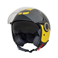 VJ helm met scherm en zonnevizier